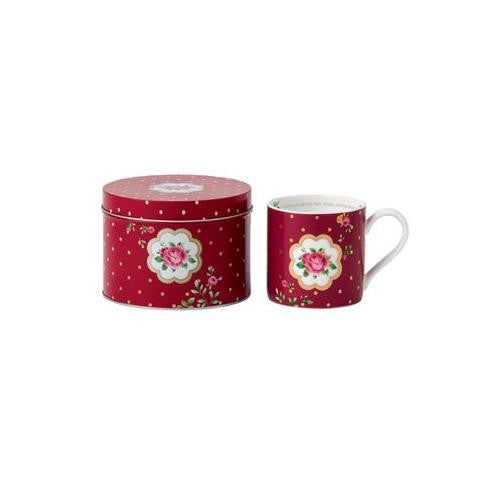 Royal Albert MARVELOUS MUGS NCR WHITE/BURGUNDY 10.2 OZ