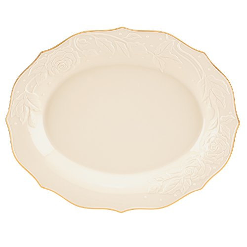 Ivory Rose Large Platter by Lenox