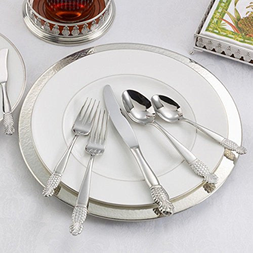 Ginkgo International Pineapple 20-Piece Stainless Steel Flatware Set, Service...
