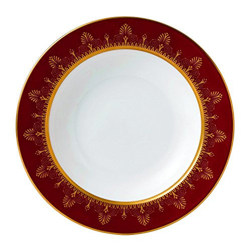 Wedgwood ANTHEMION RED RIM SOUP PLATE 9""