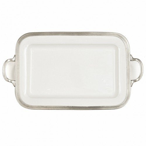 Arte Italica Tuscan Rectangular Serving Tray with Handles