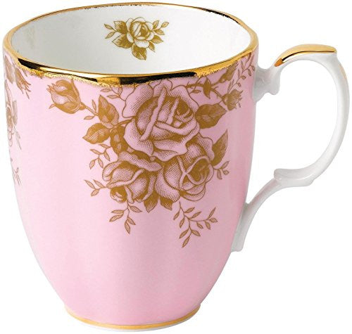 Royal Albert 100 YEARS 1960 MUG 14.1 OZ GOLDEN ROSE