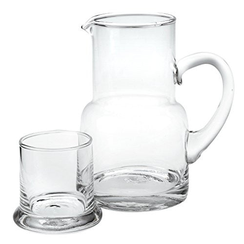 Badash Crystal Long Island 2 Piece Carafe Set 10 Ounces 7 Inch