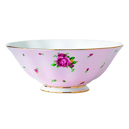 Royal Albert NEW COUNTRY ROSES PINK LARGE SALAD BOWL 11""