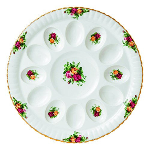 Royal Albert OLD COUNTRY ROSES DEVILED EGG DISH 11.5""
