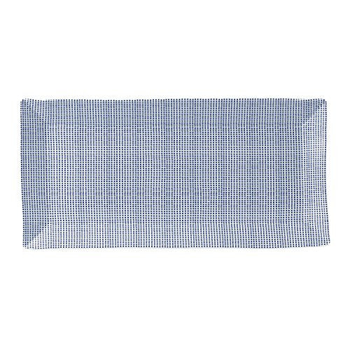 "PACIFIC RECTANGULAR SERVING TRAY 15.5"" DOTS"