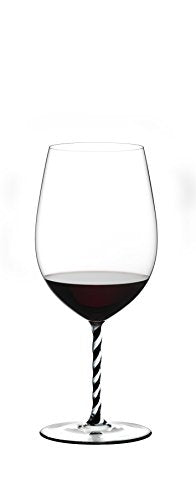 Riedel Fatto A Mano Bordeaux Grand Cru - Black/White Twist