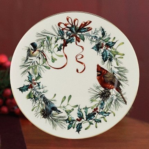 Lenox winter greetings salad plates set of 6 silverspoonstore lenox winter greetings salad plates set of 6 m4hsunfo