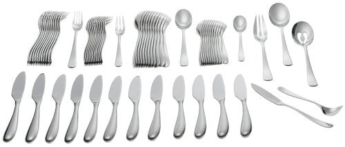Yamazaki Appel 65-Piece Flatware Set with Caddy, Service for 12