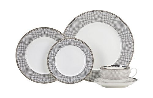 Thomas O'Brien Marielle Platinum 5 Piece Bone China Place Setting