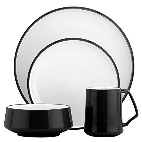 Dansk Kobenstyle 4-Piece Place Setting, Black