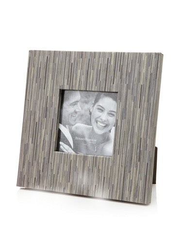 BOKA Grey faux bamboo wood grain in 5x5 proof size by Reed & Barton - 5x5