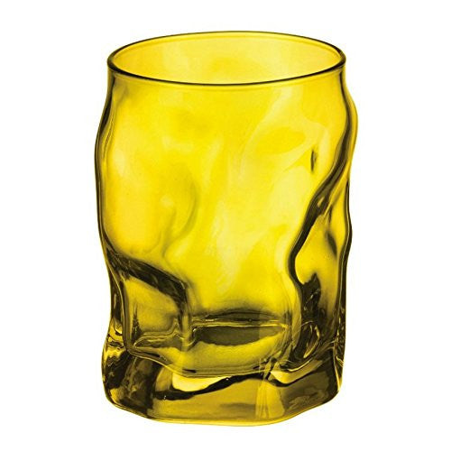 Bormioli Rocco Sorgente Yellow 10.25 Ounce Water Glass, Set of 6