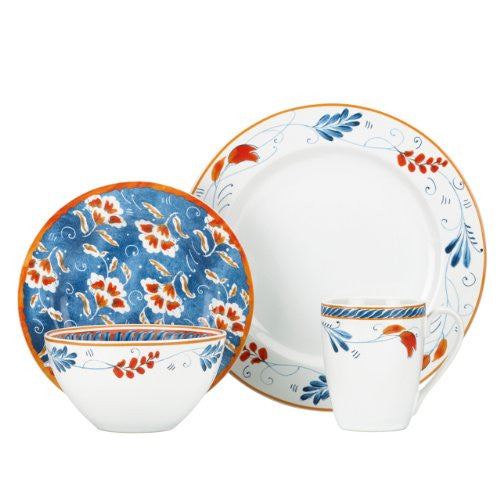 Gorham Kathy Ireland Home Spanish Botanica 4-Piece Place Setting