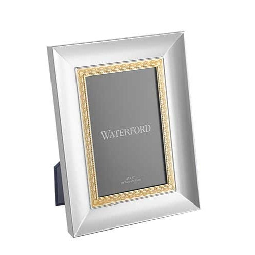 Waterford LISMORE LACE GOLD 4X6 PICTURE FRAME