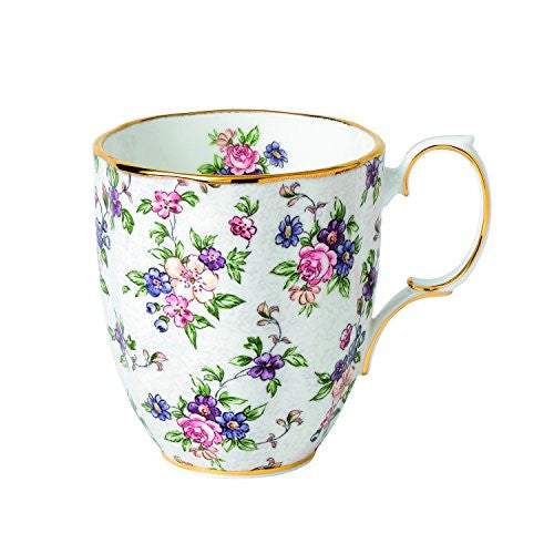 Royal Albert 100 YEARS 1940 MUG 14.1 OZ ENGLISH CHINTZ