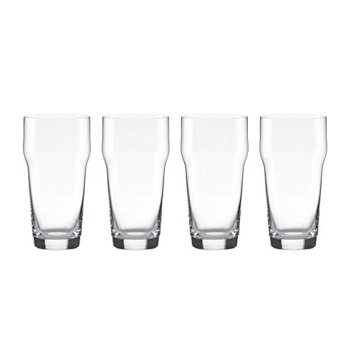 Lenox Tuscany Classics Craft Beer Glass with Crown, Clear, Set of 4