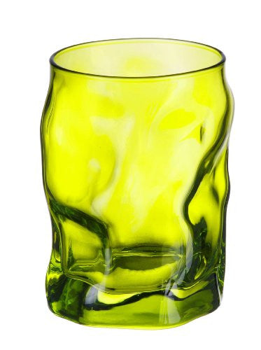 Bormioli Rocco Sorgente Water Glass, Lime Green, Set of 6