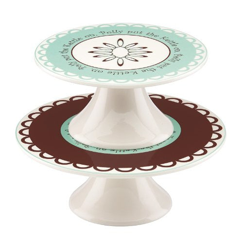 Gorham Merry Go Round Polly Put The Kettle On 2 Tiered Dessert/Canape Server