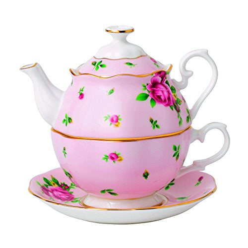 Royal Albert NEW COUNTRY ROSES PINK TEA FOR ONE