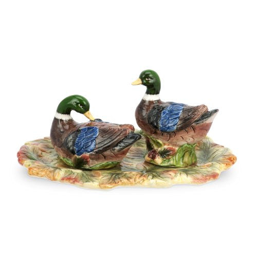 Spode Harvest Duck Salt and Pepper with Tray