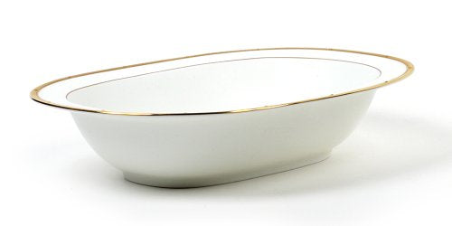 Noritake Rochelle Gold Oval Vegetable Bowl, 10-3/4-inches