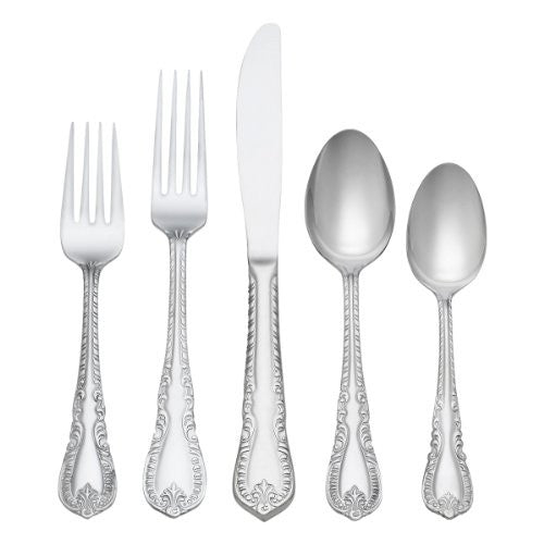 Reed & Barton Louis Philippe 91 Piece 18/10 Stainless Flatware Set Service fo...
