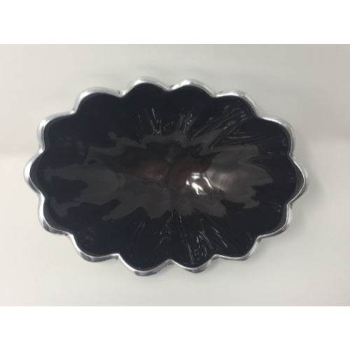 "Julia Knight Peony 5"" Oval Bowl Blackberry 4590035"