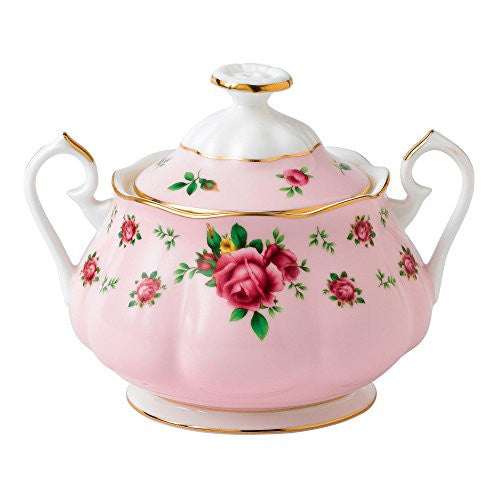 Royal Albert NEW COUNTRY ROSES PINK COVERED SUGAR 11.8 OZ