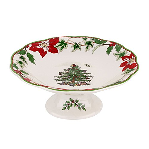 Spode Christmas Tree Annual Footed Candy Dish 7""