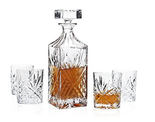 Dublin Crystal 6 Pc. Whiskey Bar Set