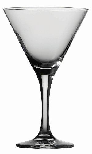 Schott Zwiesel Tritan Crystal Glass Mondial Stemware Collection Martini Cocktail  Glass, 8.2-Ounce, Set of 6