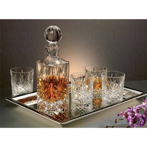 Godinger Dublin 6-Piece Crystal Whiskey Decanter Set