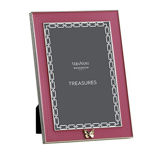 "Wedgwood TREASURES WITH LOVE FRAME 4X6"" PINK BUTTERFLY"