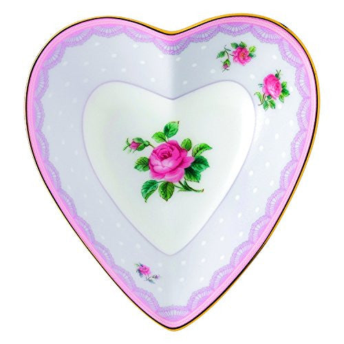 "Royal Albert CANDY HEART TRAY 5.1"" LOVE LILAC"