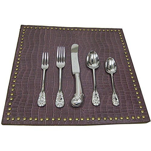 Oscar De La Renta Home for Lunt Oscar's Pattern 20 Piece Place Setting, Servi...