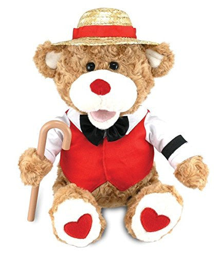 "Cuddle Barn 12"" Valentine's Plush Teddy Bear B. Sharp Sings ""Book of Love"" CB..."