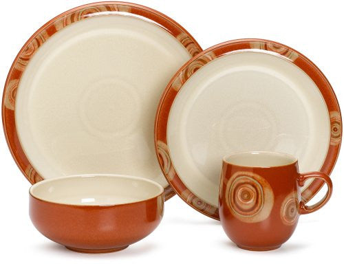 Denby Fire Chilli 4-Piece Place Setting, Service for 1