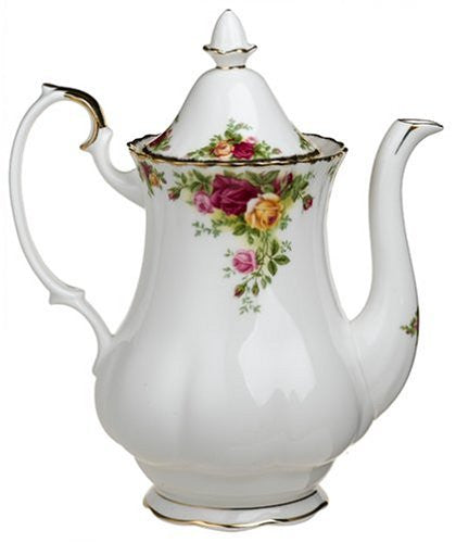 Royal Albert OLD COUNTRY ROSES COFFEE POT LARGE 42 OZ