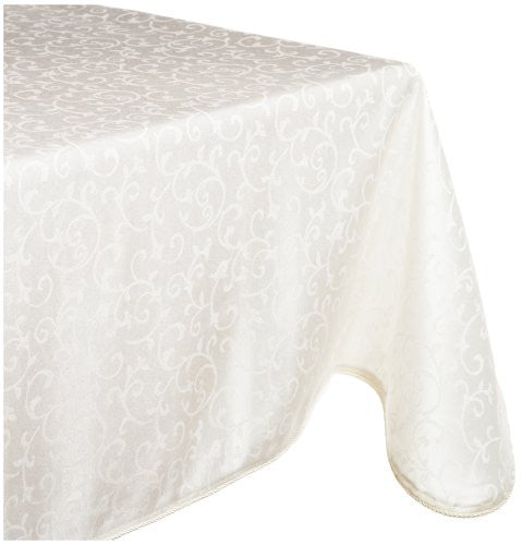 Lenox Opal Innocence 60-by-84-Inch Oblong Tablecloth, White