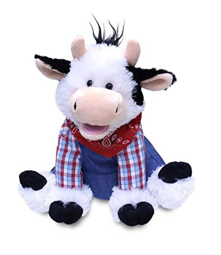 Cuddle Barn New Collection Animated Plush Singing and Dancing Cow - Farmer Mac
