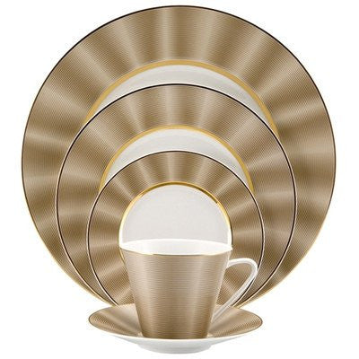 Nikko Silk Champagne 5 Piece Place Setting