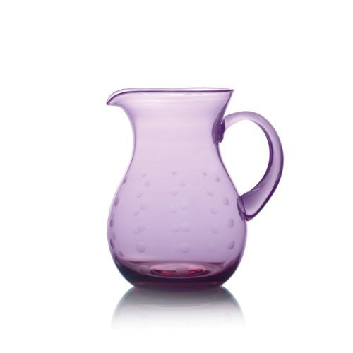 Mikasa Cheers Dots Aubergine Belly Pitcher (2.9-Quart)