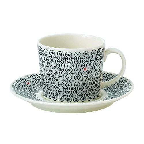 CHARLENE MULLEN FOULARD STAR TEACUP AND SAUCER