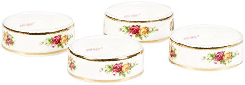 "Royal Albert OLD COUNTRY ROSES NAPKIN RING 2.2"" SET/4"