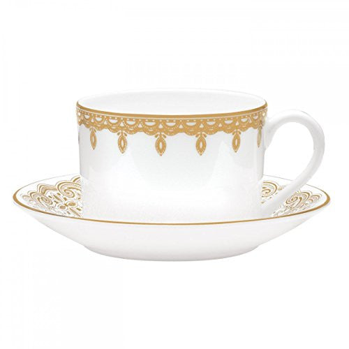 Waterford LISMORE LACE GOLD TEACUP & SAUCER SET
