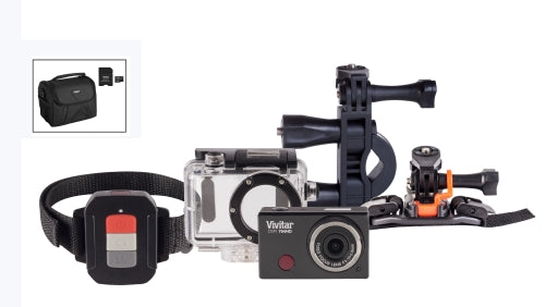 Vivitar DVR794HD-SIL-KIT2 12MP Sports Action Camcorder with Waterproof Case