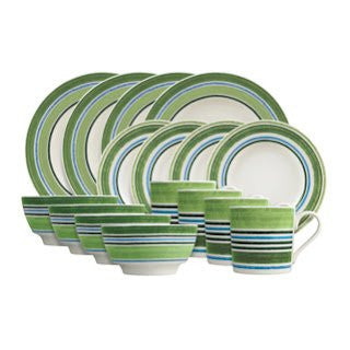 Johnson Brothers Woodland Stripe 16 Pc Place Setting