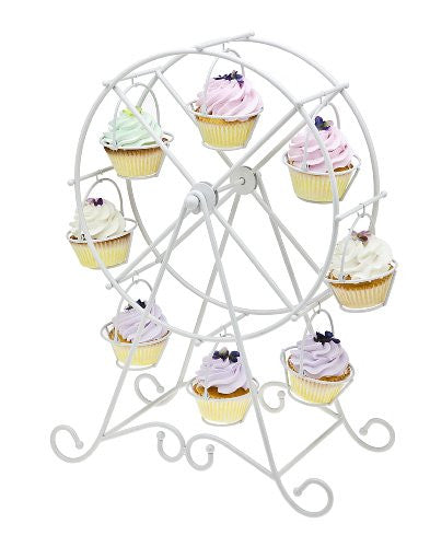 Godinger, Ferris Wheel Cupcake Holder, White (WHITE, 1)