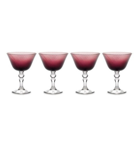 Mikasa Charade Plum Margarita Glasses - Set Of 4
